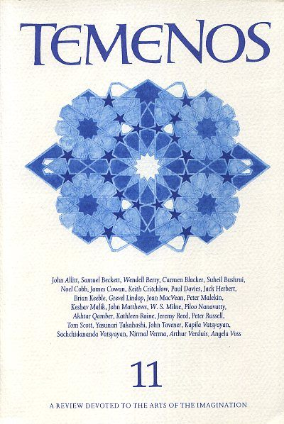 TEMENOS 11.; A Review Devoted to the Arts of the Imagination. Kathleen Raine.