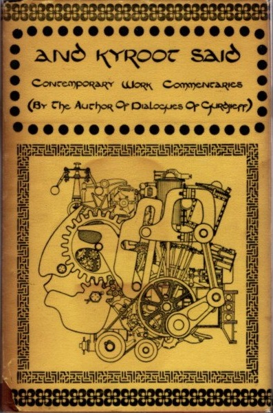 AND KYROOT SAID; Contemporary Work Commentaries. Jan Cox.