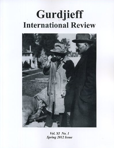 THE ORAL TRADITION: GIR, VOL XI, NO. 1:; Gurdjieff International Review