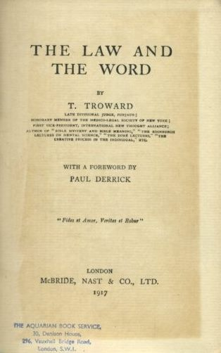 THE LAW AND THE WORD. T. Troward.