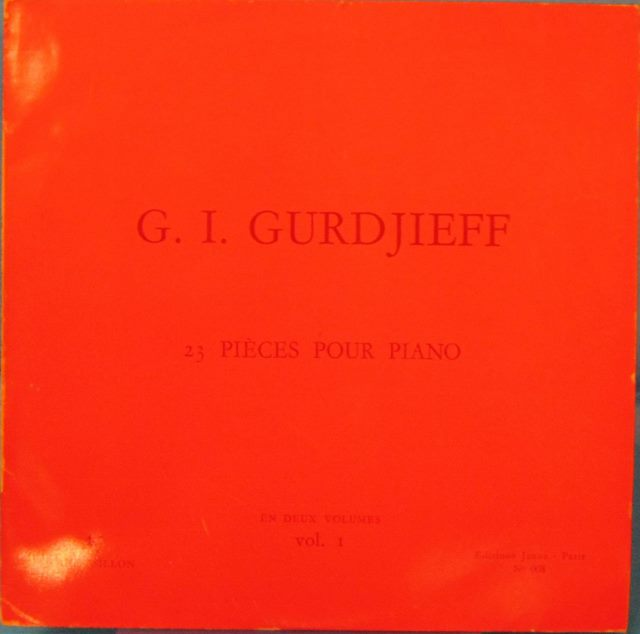 23 PIÈCES POUR PIANO: VOLUME I. G. I. Gurdjieff.