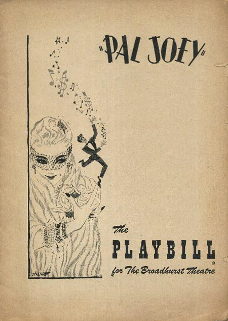 PAL JOEY: THE PLAYBILL OF THE BROADHURST THEATRE.