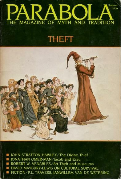 THEFT: PARABOLA, VOL. IX, NO. 2, SSPRING, 1984. Robert A. F. Thurman, John Stratton Hawley, Jonathan Omar-Man, Janwillem van de Wetering, David Maybury-Lewis, P L. Travers, D M. Dooling.