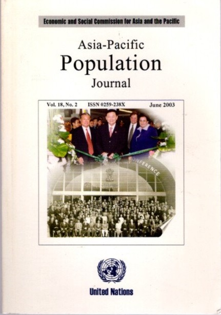 ASIA PACIFIC POPULATIONS JOURNAL, VOL. 18, NO. 2, JUNE 2003.