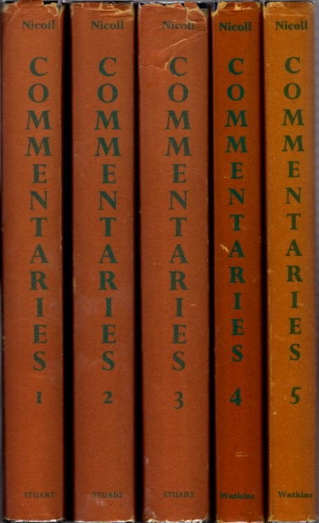 PSYCHOLOGICAL COMMENTARIES ON THE TEACHINGS OF G.I. GURDJIEFF & P.D. OUSPENSKY; Five Volume Set. Maurice Nicoll.