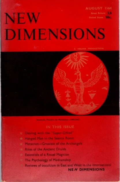 NEW DIMENSIONS: VOLUME II, NO  9, AUGUST 1964 by Basil Wilbey, pseud   Gareth Knight on By The Way Books