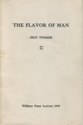 THE FLAVOR OF MAN. Jean Toomer.