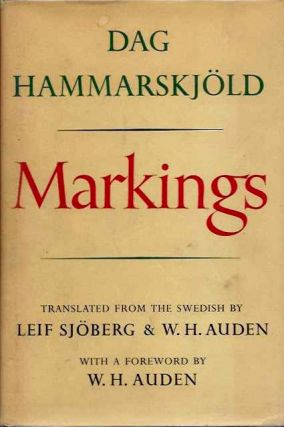 MARKINGS. Dag Hammarskjold.
