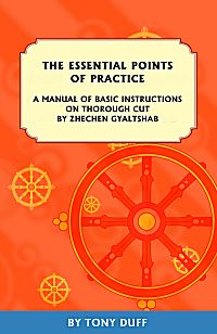 THE ESSENTIAL POINTS OF PRACTICE; A Manual of Basic Instructions on Thorough Cut. Zhechen Gyaltshab, Tony Duff.