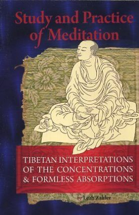STUDY AND PRACTICE OF MEDITATION; Tibetan Interpretations Of The Concentrations And Formless Absorptions. Leah Zahler.