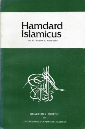 HAMDARD ISLAMICUS: VOL XI / NUMBER 4 / WINTER 1988. Hakim Mohammed Said