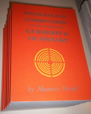 PSYCHOLOGICAL COMMENTARIES ON THE TEACHINGS OF G.I. GURDJIEFF & P.D. OUSPENSKY.