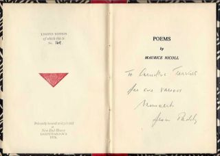 POEMS. Maurice Nicoll