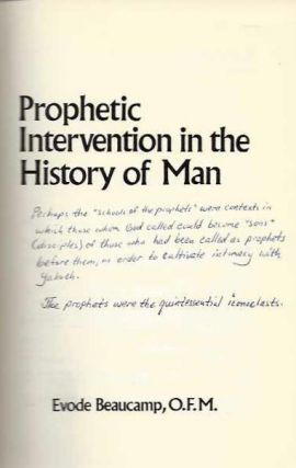 PROPHETIC INTERVENTION IN THE HISTORY OF MAN. Evode Beaucamp