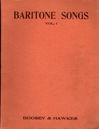 BARITONE SONGS VOL. I; Imperial Edition. Boosey, Hawkes