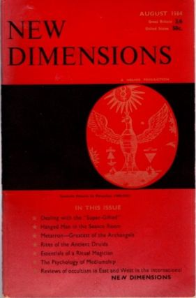 NEW DIMENSIONS: VOLUME II, NO. 9, AUGUST 1964. Basil Wilbey, pseud. Gareth Knight