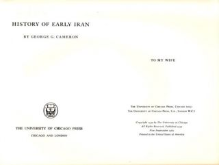 HISTORY OF EARLY IRAN.