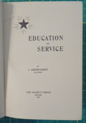 EDUCATION AS SERVICE.