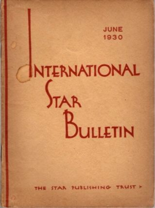 STAR BULLETIN: NO. 6, JUNE, 1930