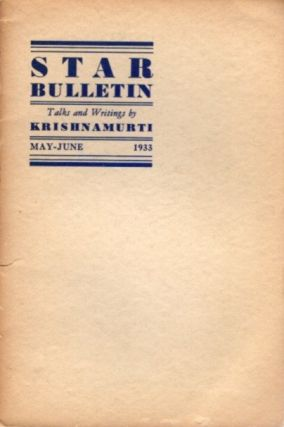 STAR BULLETIN: NO. 3, MAY-JUNE, 1933