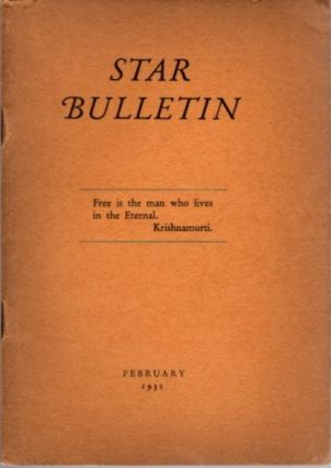 STAR BULLETIN: NO. 2, FENRUARY, 1931