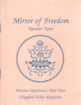 MIRROR OF FREEDON: PRACTICE QUESTIONS PART NINE. Chagdud Tulku Rinpoche