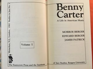 BENNY CARTER; A Life in American Music