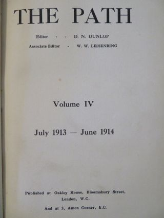 THE PATH: VOLUME IV, JULY 1913 - JUNE 1914.