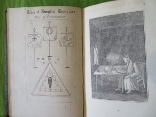 THE TEMPLAR'S CHART, OR HIEROGLYPHIC MONITOR; Containing all the Emblems and Hieroglyphics , Explained in the Valiant and Magnanimous Orders of the Knights of the Red Cross, Knights Templar and the Knights of Malta