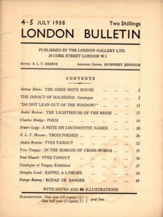 LONDON BUTTETIN NO 4-5, JULY 1938.