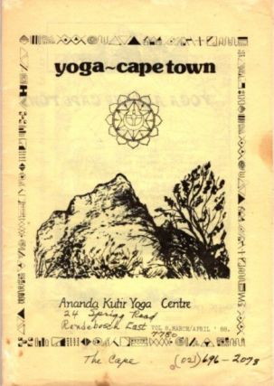 YOGA - CAPETOWN; Vol. 2, March/April '88. Ananda Kutir