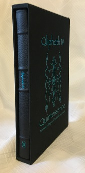 """QLIPHOTH ESOTERIC PUBLICATION OPUS IV; """"Quintessence"""" (The Hidden Temple Ov The Blackened Serpent)"""