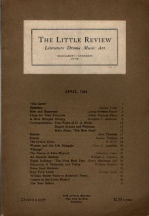 THE LITTLE REVIEW, VOL. I, NO. 2, APRIL, 1914. Margaret Anderson