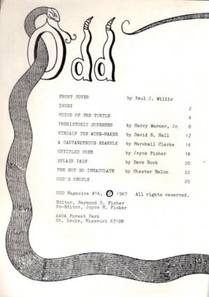 ODD MAGAZINE; Whole Number 16