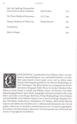 CLAVIS: ISSUE 2: Journal of Occult Arts, Letters and Experience