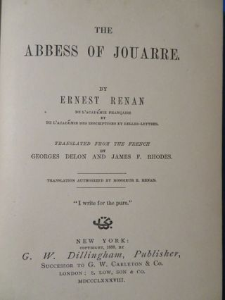 THE ABBESS OF JOUARRE.