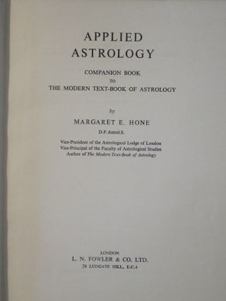 APPLIED ASTROLOGY: Companion Book to the Modern Text-book of Astrology
