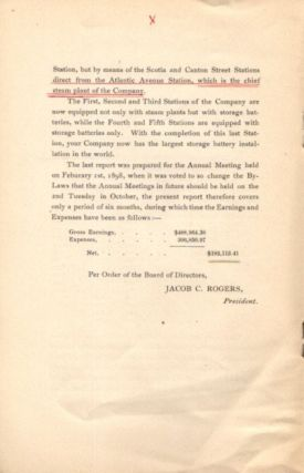 REPORT OF THE BOARD OF DIRECTORS TO THE STOCKHOLDERS AT THEIR THIRTEENTH ANNUAL MEETING, OCTOBER 11, 1898: Restored by the Sacred Council of Trent, Published by Order of the Supreme Pontiff St. Pius V and Carefully Revised by Other Popes