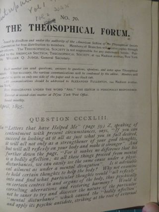 THE THEOSOPHICAL FORUM.