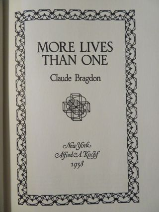 MORE LIVES THAN ONE.