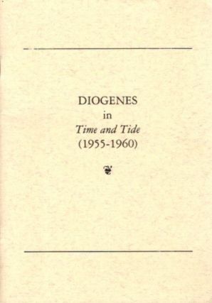 DIOGENES IN TIME AND TIDE (1955-1960
