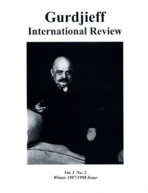 GIR VOL I, #2, WINTER 97-98.: Gurdjieff International Review