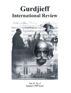 THE GUDJIEFF/DE HARTMANN MUSIC: GIR VOL II, #4, SUMMER 1999.; Gurdjieff International Review