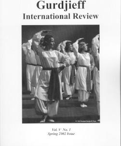 A TEACHER OF DANCING: GIR VOL V, NO. 1, SPRING 2002.; Gurdjieff International Review: Movements...