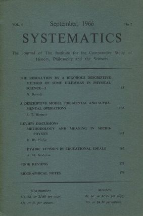 SYSTEMATICS: VOL. 4, NO. 2; SEPTEMBER 1966.; The Journal of the Institute for the Comparative...
