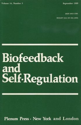 BIOFEEDBACK AND SELF-REGULATION: VOLUME 14, NUMBER 3, SEPTEMBER 1989. Francine Butler, Mary R. Cook