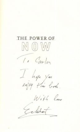 THE POWER OF NOW: A GUIDE TO SPIRITUAL ENLIGHTENMENT.
